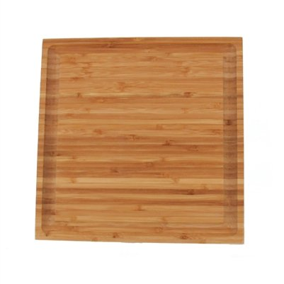 BambooMN Brand - 100 Pieces - Bulk Wholesale Premium Bamboo Grooved Cutting Board - 11'' x 11'' x .75''
