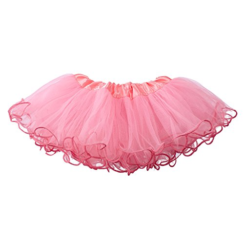 Ruffled Bubble (My Lello Baby Tutu Ruffled Scallope Edge Skirt 5-Layer (newborn - 3mo.) Bubblegum Pink)