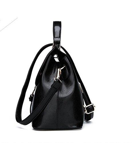 La Moda Negro Bolso Meaeo Hombro Costuras Elegante black De De Bolsa Nueva pvva8d