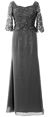 Mother Women of MACloth Gown Half the Grau Evening Maxi Bride Sleeve Formal Dress SnRqnwTx