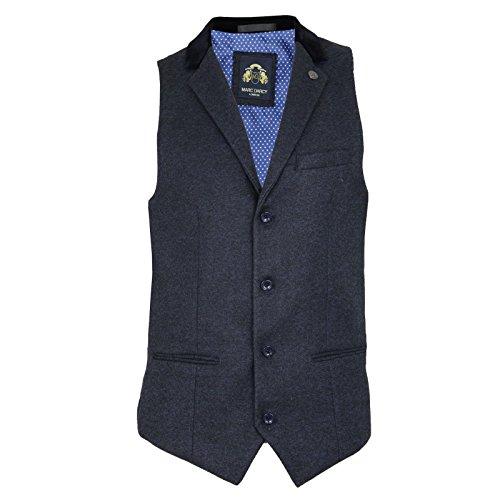 UOMO MARC Darcy Vintage Tweed con colletto gilet - RONNY BLU