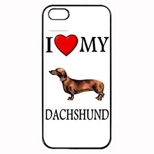 Custom Dachshund I Love My Dog Photo iPhone 5 5S Case Cover Hard Shell Back