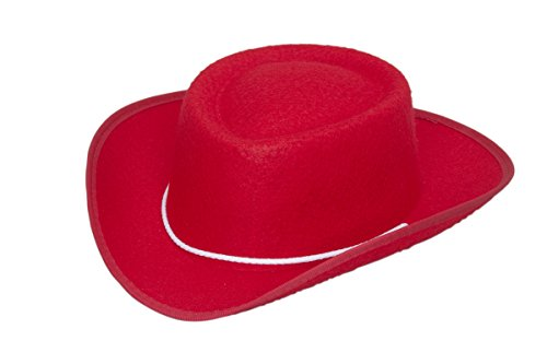 [Jacobson Hat Company Child Permalux Cowboy Costume, Red, Large] (Child Red Cowboy Hat)