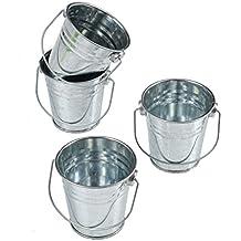 Mini Metal Buckets,Pack of 12
