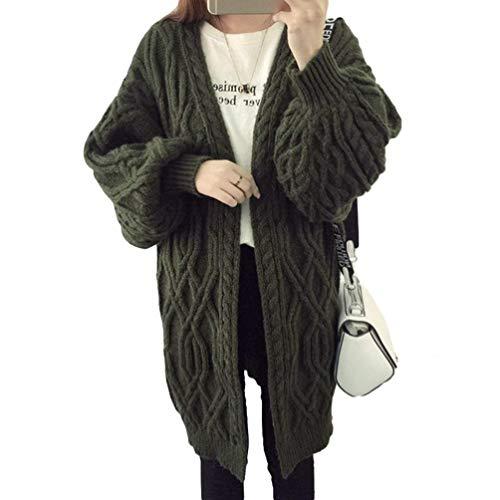 Caldo Casuale Giacche Fashion Outerwear Libero Cappotto Monocromo Pullover Eleganti Tempo Lunghe Donne Aperto Forcella Dunkelgr Relaxed Invernali Giacca Casual Donna Autunno A Maglia Lunghi Maniche dBoerCx