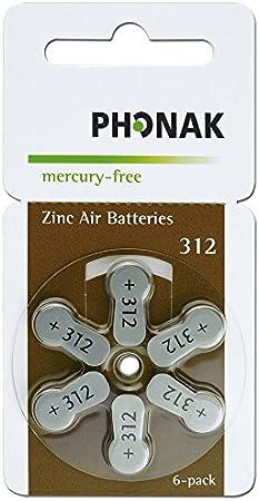 30 X Hörgerätebatterien Phonak Mercury Free Typ 312 Braun Drogerie Körperpflege