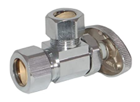 Eastman 04358LF multi turn stop angle valve 1//2 OD X 5//8 OD Chrome