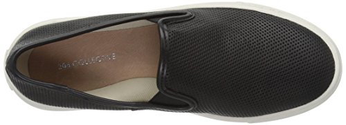 206 Collective Women's Cooper Perforated Slip-on Fashion Sneaker Black Perforated Leather