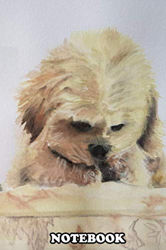 Notebook: Watercolor Illustration Of Two Adorable Dogs , Journal for Writing, College Ruled Size 6
