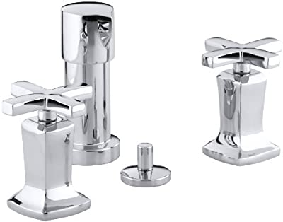 Kohler K-16238-3-CP Margaux Bidet Faucet with Cross Handles, Polished Chrome