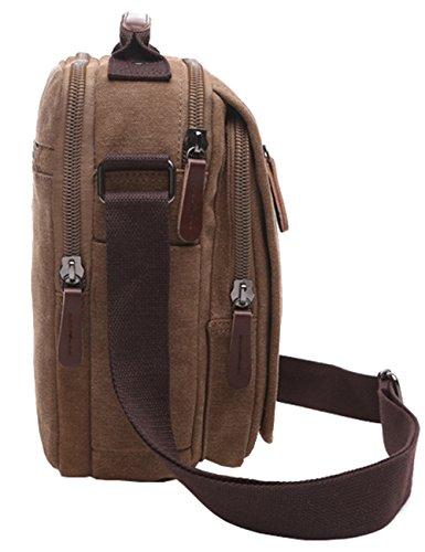 Mygreen Men's Multifunctional Canvas Shoulder Bag Handbag Multi-Pockets Business Messenger Bags Outdoor Sports Over Shoulder Crossbody Side Bag by mygreen (Image #6)