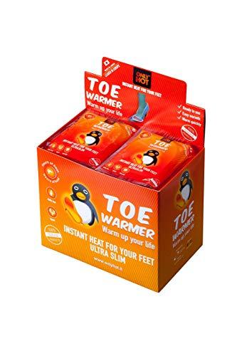 Only Hot 9-Uur Zelfverwarmende Teen Warmer Stickers voor Unisex Adult 40 Paar Display Box, Een Maat, Oranje