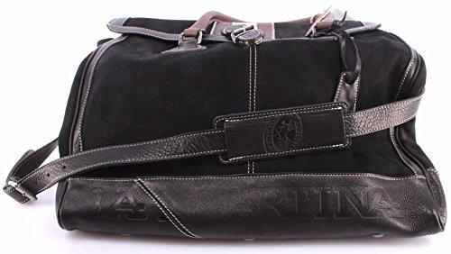 Sacs à BandouliÚre Hommes LA MARTINA Chamois Cuir Noir Week End Bag Exclusif