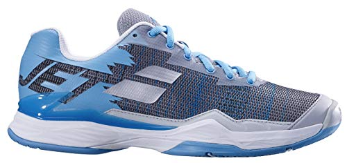 Babolat Women's Jet Mach I All Court Tennis Shoe, Silver/Horizon Blue (Size 7 US)