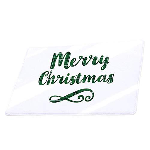 Vacally Christmas Home Floor Decoration Non Slip Carpet Floor Door Mats Hall Doorway Rugs Flannel Absorbent Carpet for...