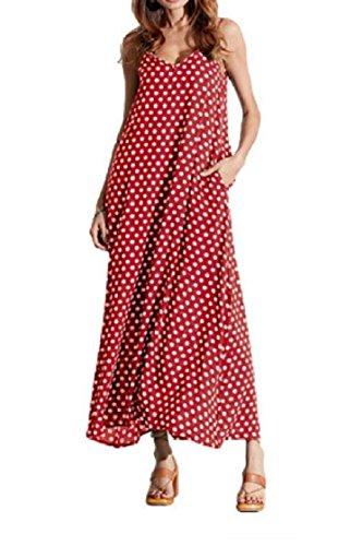 Donne A Tasche Coolred V Rosso Delle Vestito Pois Oversize Cinghia collo Con Sole Spiaggia qXwXRFxEn