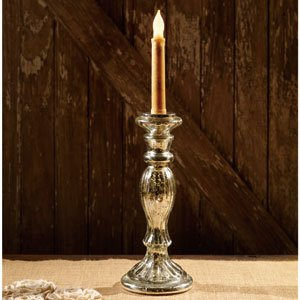 Mercury Glass Taper Candle Holder - 10 inch