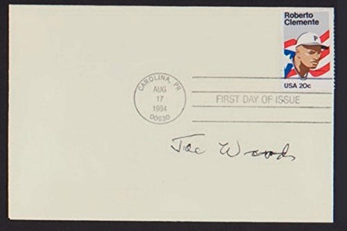 SMOKEY JOE WOOD SIGNED ROBERTO CLEMENTE '84 STAMP FIRST DAY ISSUE COVER ENVELOPE - Issue Stamp Cover