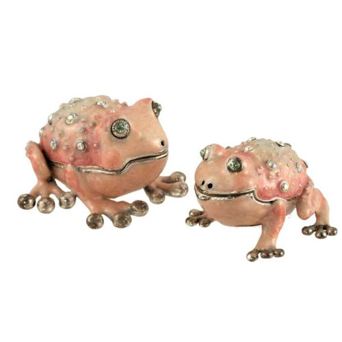 (Toad Salt/Pepper Shaker - Swarovski Crystal)