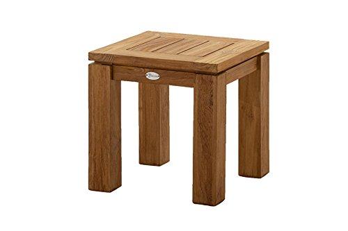 Destiny Teaktisch Dorado Tisch 45 x 45 Old Teak - Massiver Teakholz Tisch aus aufbereitetem Massivholz