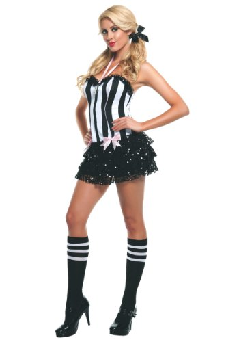 Ref Costume Amazon (Starline Sassy Ref Costume, Black/White, Small)