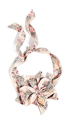 (LOVESHACKFANCY Women's Florentine Belt, Ribbon, Pink, Floral, One Size )