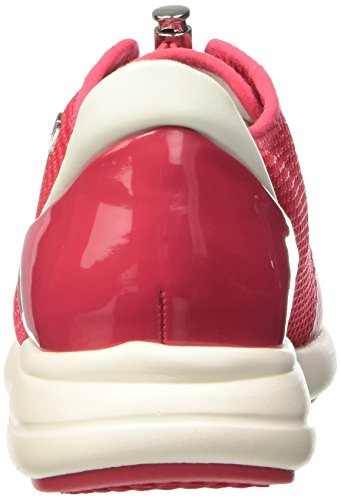 Geox Ophira D, Pompes à Plateforme Plate Femme Rosso (Coral)