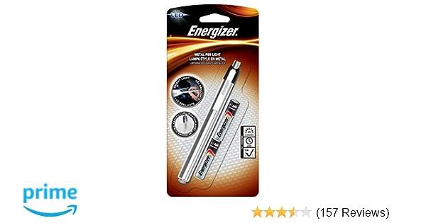 Energizer Aluminum Pen LED Flashlight, Two AAA Batteries (PLED23AE)