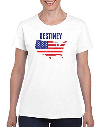 Destiney American Flag Women's T Shirt 2XL - Destiney Usa