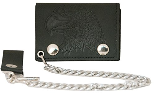 Trifold Genuine Leather Wallet W/ Chain, - Usa Genuine Wallet Shopping Results
