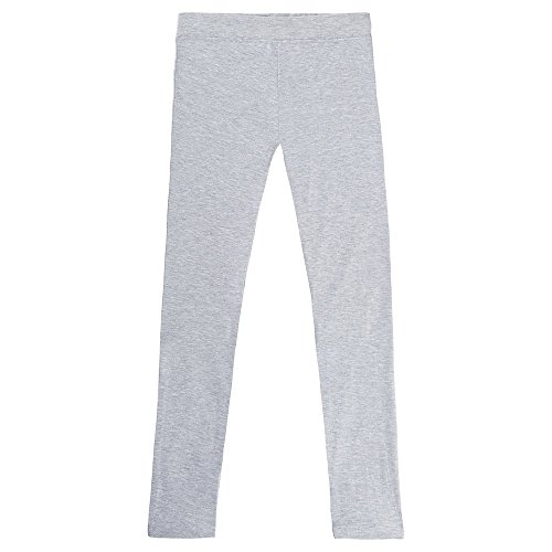 French Toast Little Girls' Solid Leggings, Heather Grey, 5