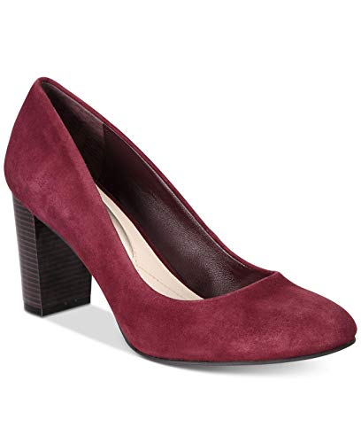 Alfani Womens Morgaan Leather Closed Toe Classic Pumps, Mulberry, Size 6.0