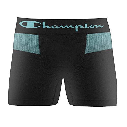 Cueca Boxer sem costura, Champion, Masculino, Preto, M