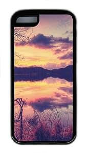 Rednor Lake TPU Silicone Rubber Case Cover for iPhone 5C - Black