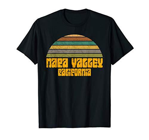 RETRO VINTAGE 70s 80s STYLE NAPA VALLEY CA Distressed T-Shirt]()