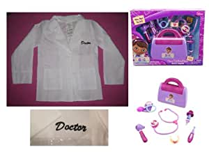 Disney Doc McStuffins Doctor's BAG Playset plus COAT - Small 4 - 6X Costume Halloween Dress Up for Toddlers