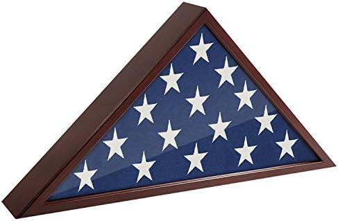 Americanflat Flag Case Frame Mahogany