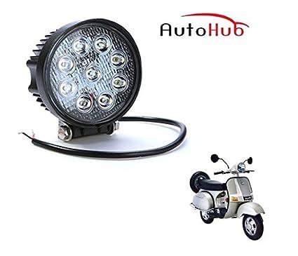 Auto Hub Bike 9 LED Round Fog Light Lamp for Bajaj Chetak: Amazon in