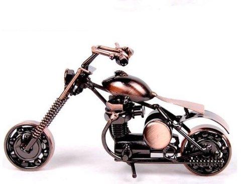 (Fu's store (TM) Retro Harley Davidson Model Collectible Model Home Décor Collective Edition Gift M30 (M300-1-bronze))
