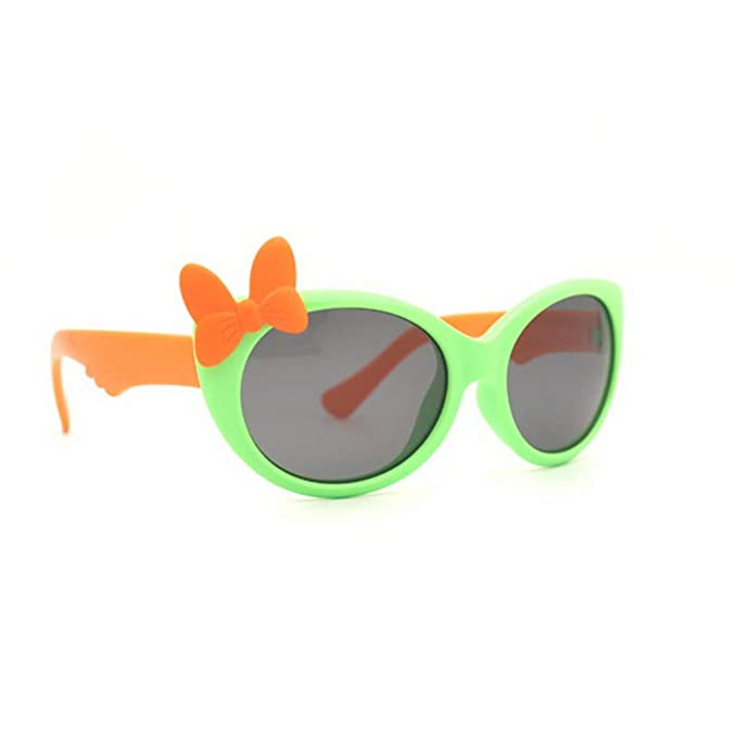 Kids Heart Sunglasses Rubber Frame Polarized Flexible Child Baby Safe UV Eyewear