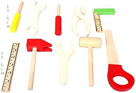 Bouwblokken Speelgoed DIY Carpenter Toy Children's Simulatie Repair Toys Veelkleurige houten instrumenten en draagtas