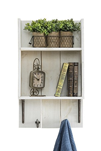 del Hutson Designs USA Handmade Reclaimed Wood Rustic Bathroom Shelf, White by del Hutson Designs (Image #2)