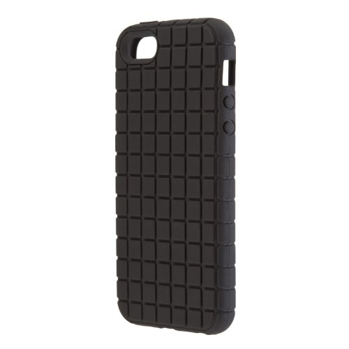Speck Products PixelSkin Rubberized Case for iPhone 5 & 5S, SE - Black