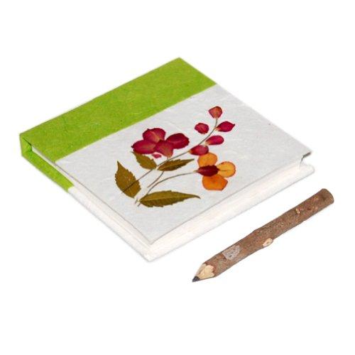 MangoNest Thai Saa Paper Notebooks: Lime Green