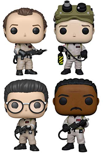 Funko Pop! Movies: Ghostbusters - Set of 4 Figures: Dr. Peter Venkman, Dr. Raymond Stantz, Dr. Egon Spengler and Winston Zeddemore