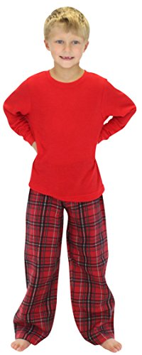 SleepytimePjs Kids Family Matching Pajamas Red Plaid 4T - Import It All 9a55a0218