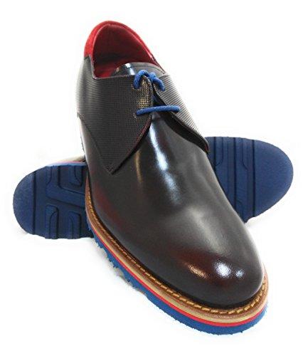 Zerimar Hoogte Verhogende Lift Schoenen Voor Heren Voeg +2,7 Toe Aan Je Bordeaux Gemaakt In Spanje Bordeaux
