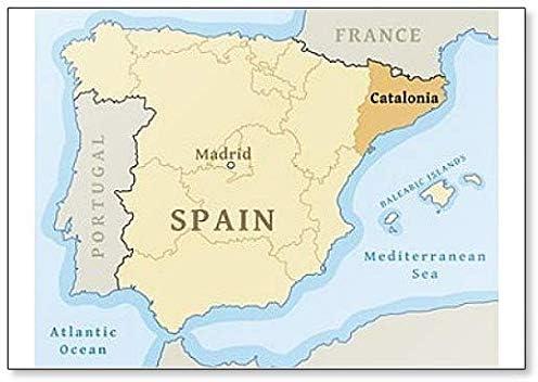 Imán para nevera con mapa de Cataluña de España: Amazon.es: Hogar