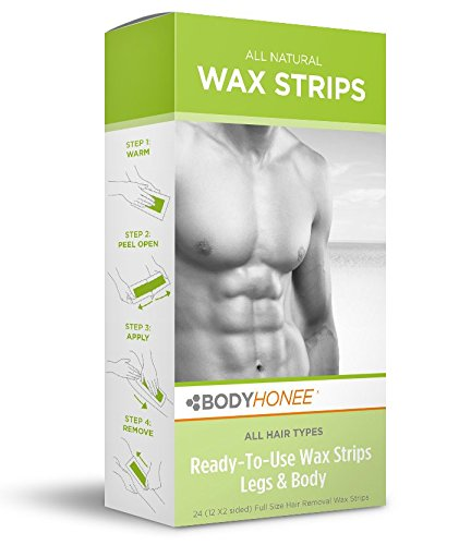 Hair Removal Wax Strips Legs + Body, 24 Count