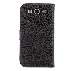 xiao Snakeskin Grain Full Body Case with Camellia Buckle ,Stand for Samsung Galaxy S3 I9300 , White